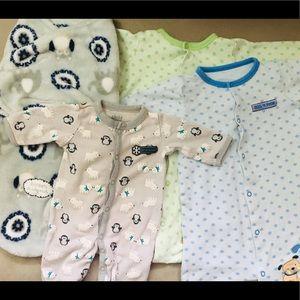 Other - Sleepwear & Swaddle Bundle(4)